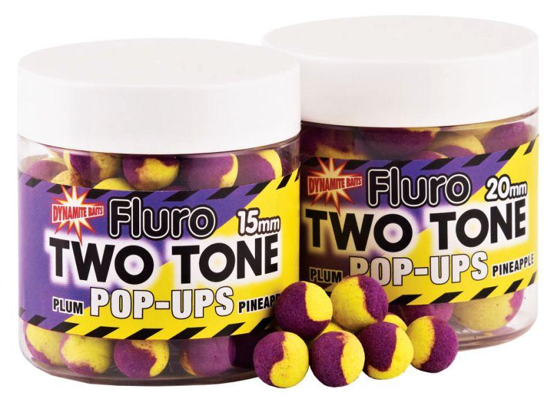 Dynamite Baits Pop-Ups Fluro Two Tone Plum&Pineapple15 mm