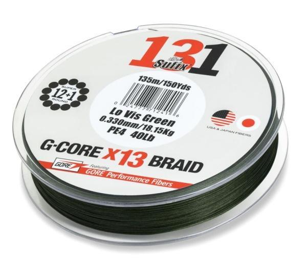 Sufix 131 G-CORE 150 m tmavě zelená