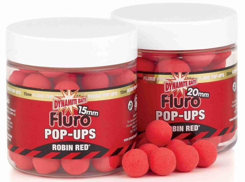 Dynamite Baits Pop-Ups Fluro Robin Red 15 mm
