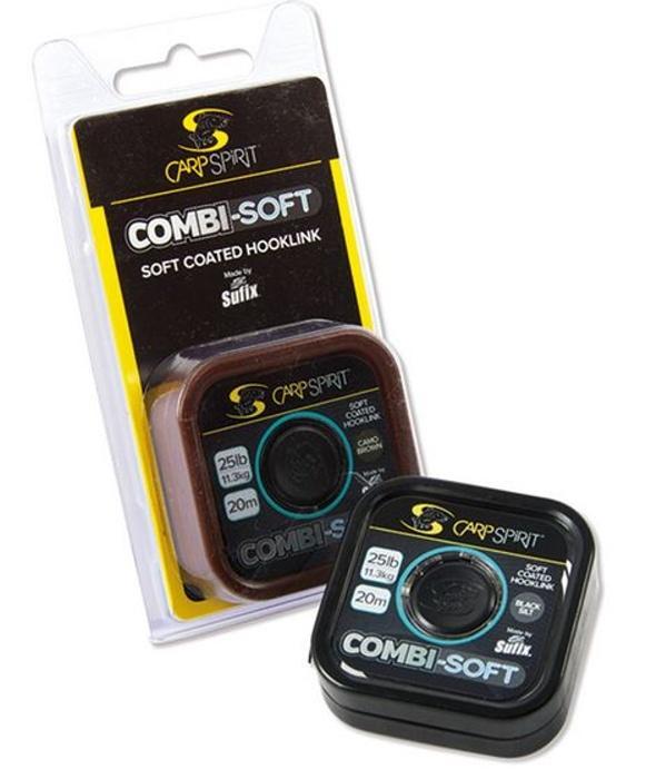 Carp Spirit Combi-Soft Coated Braid 20 m/9,1 kg/20 lb maskovací zelená