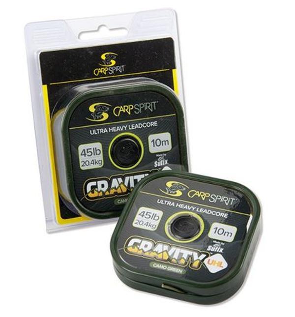 Carp Spirit Gravity UHL- Ultra Heavy Leadcore 10 m/20,4 kg/45 lb maskovací hnědá