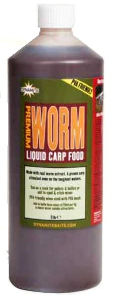 Dynamite Baits Liquid Carp Food Worm 1 l