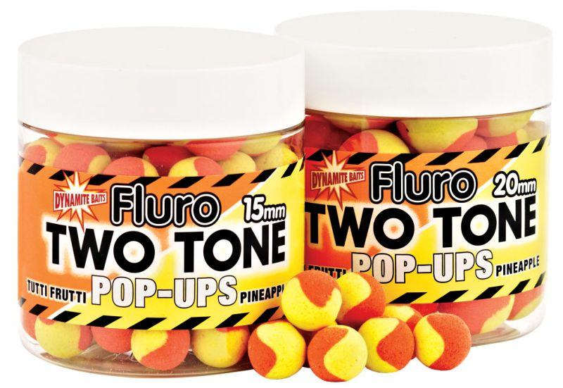 Dynamite Baits Pop-Ups Fluro Two Tone Tutti Frutti&Pineapple 15 mm