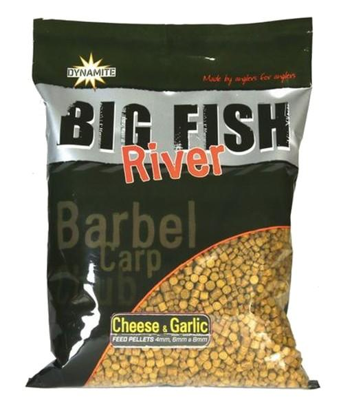 Dynamite Baits Pellets Big Fish River Cheese&Garlic 4/6/8 mm 1,8 kg