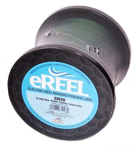 Sufix eReel 1000 m/0,42 mm/36 kg tmavě zelená