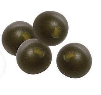 Carp Spirit Rubber Beads 6mm Weed Green x 25