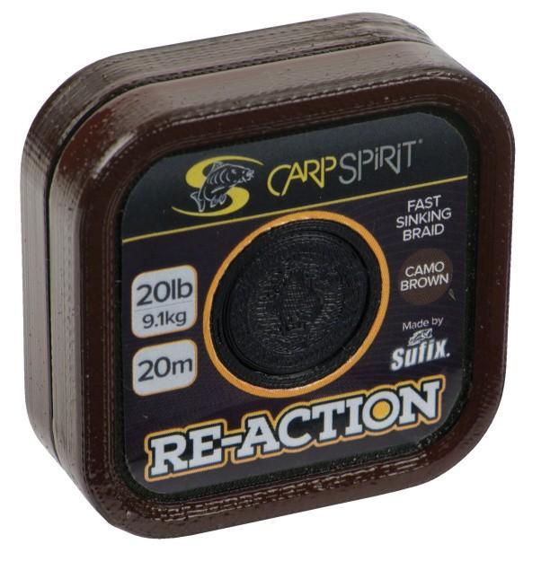 Carp Spirit Reaction Braid 20 m/11,3 kg/25 lb maskovací hnědá