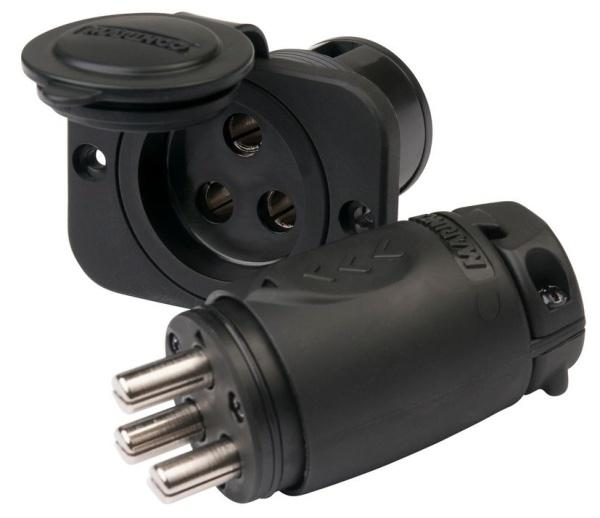 70A 3-Wire Trolling Motor Plug & Receptacle Combo 12/24/36/48 V