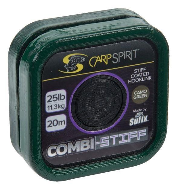Carp Spirit Combi-Stiff Coated Braid 20 m/6,8 kg/15 lb maskovací zelená