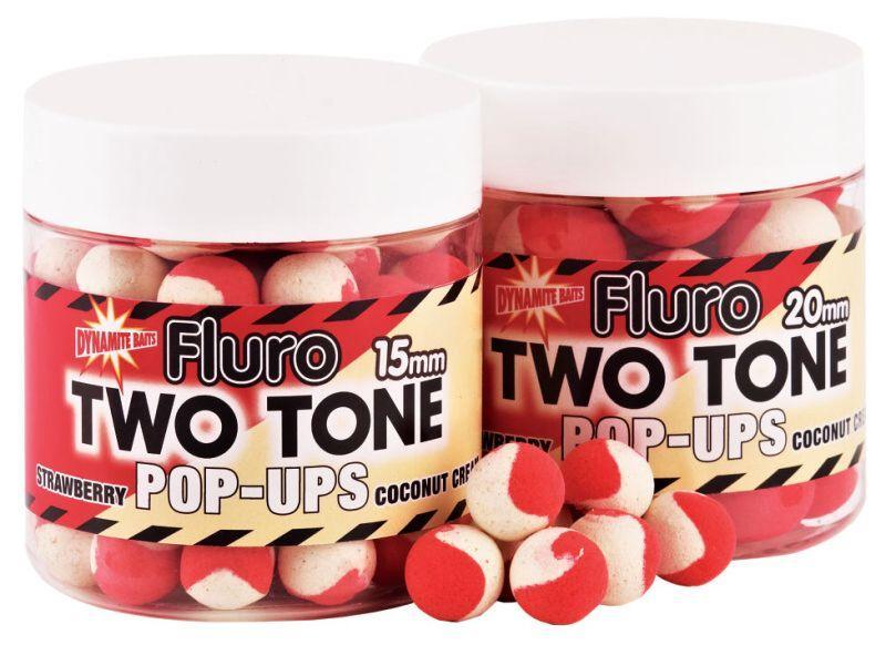 Dynamite Baits Pop-Ups Fluro Two Tone Strawberry&Coconut Cream 15 mm