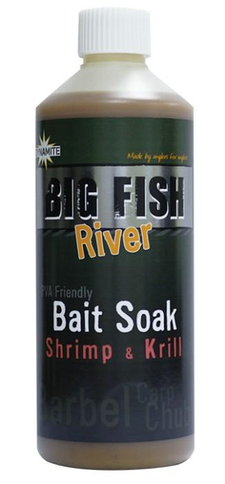 Dynamite Baits Bait Soak Big Fish River Shrimp&Krill 500 ml